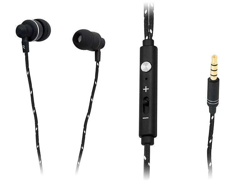Słuchawki BLOW B-100 BLACK plecionka