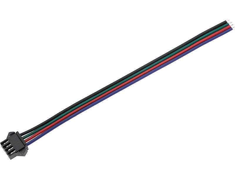 Konektor do taśm LED złącze wtyk RGB z przewodem