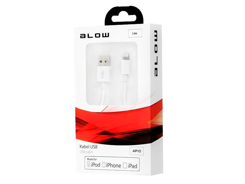 Kabel USB A wtyk - iPhone 5/6 MFI wtyk 1m