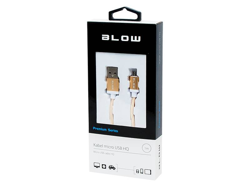 Kabel USB a wtyk - micro B wtyk 1m plecionka