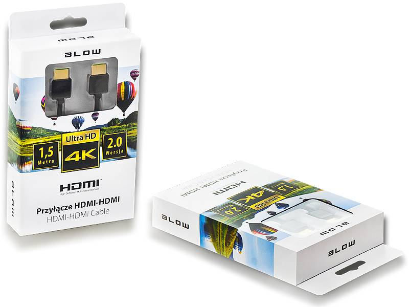 Kabel HDMI - HDMI BLACK 2.0 4K 1,5m