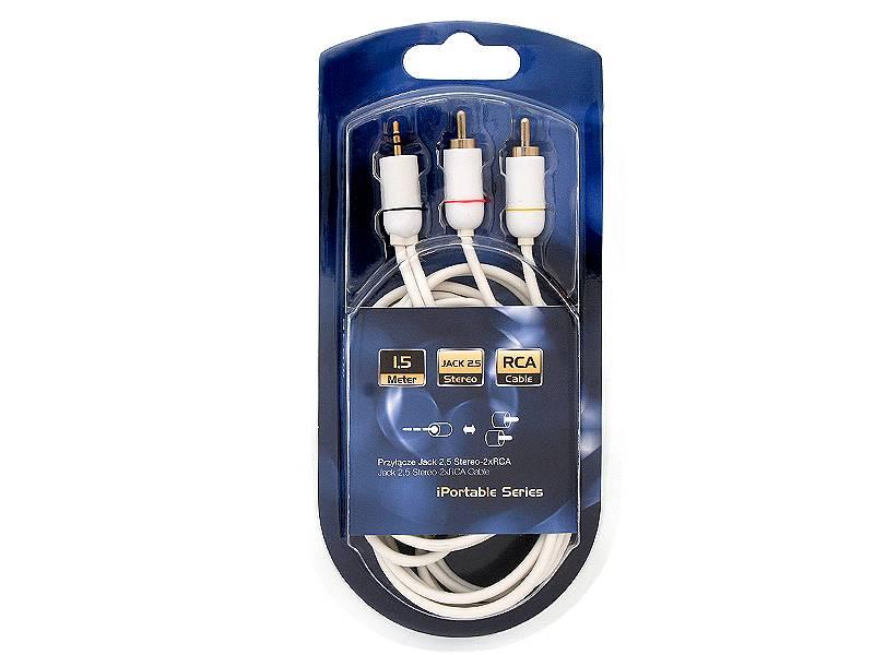 Kabel Jack 2,5mm wtyk - 2xRCA wtyk 1,5m