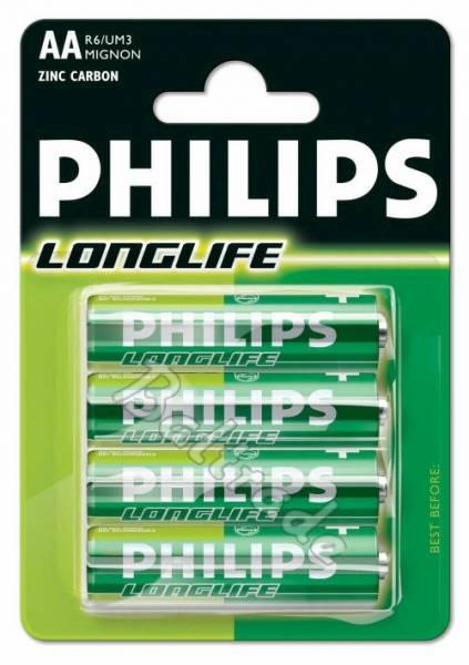 Bateria R6 AA Philips Long life