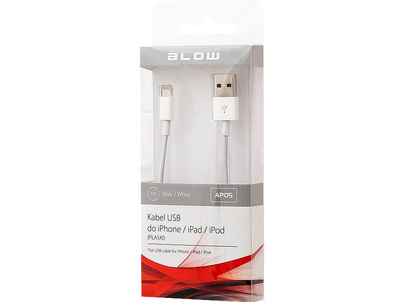 Kabel USB A - iPhone 5/6/7 1,0m HQ