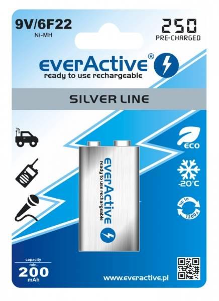 Akumulatorek 6F22 everActive 250mAh 9V