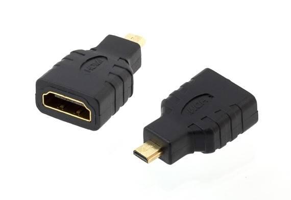 Adapter HDMI gniazdo - micro HDMI wtyk