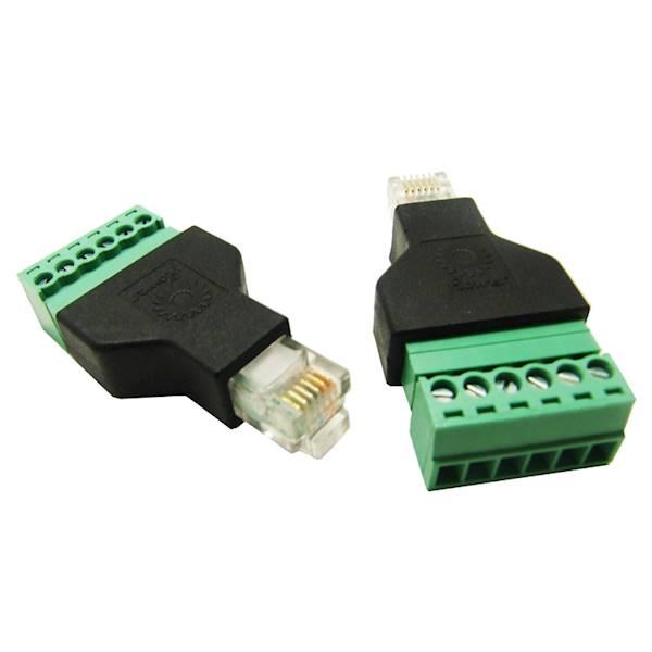 Wtyk telefoniczny RJ12 (6P6C) szybkozłącze