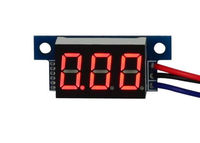 Woltomierz miernik napięcia red LCD 4 - 30V