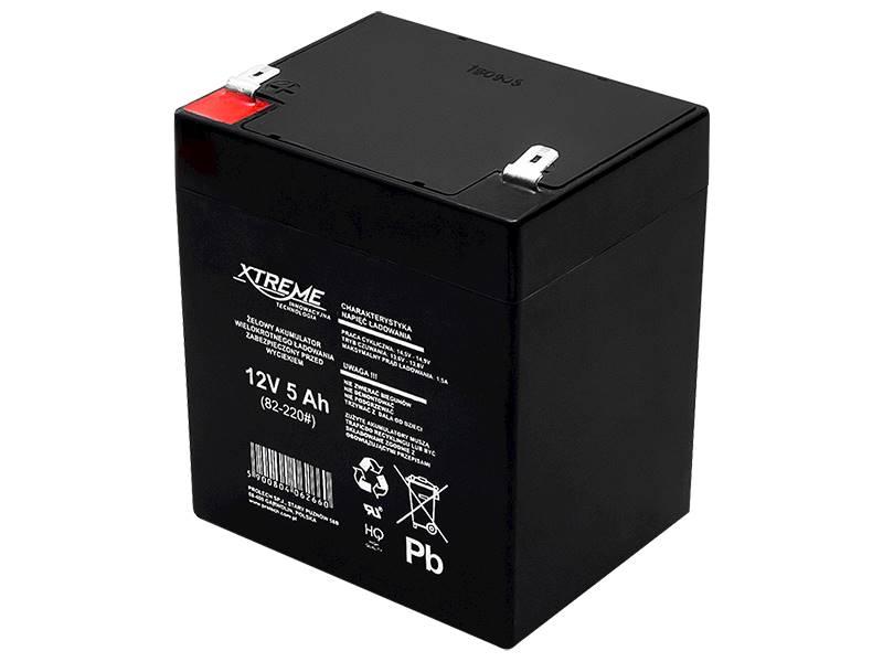 Akumulator żelowy 12V 5Ah XTREME