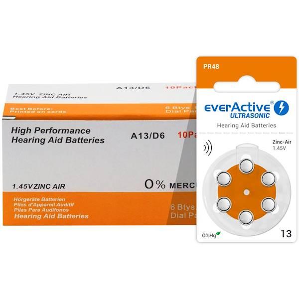 Baterie do aparatu słuchowego 13 everActive 6BL