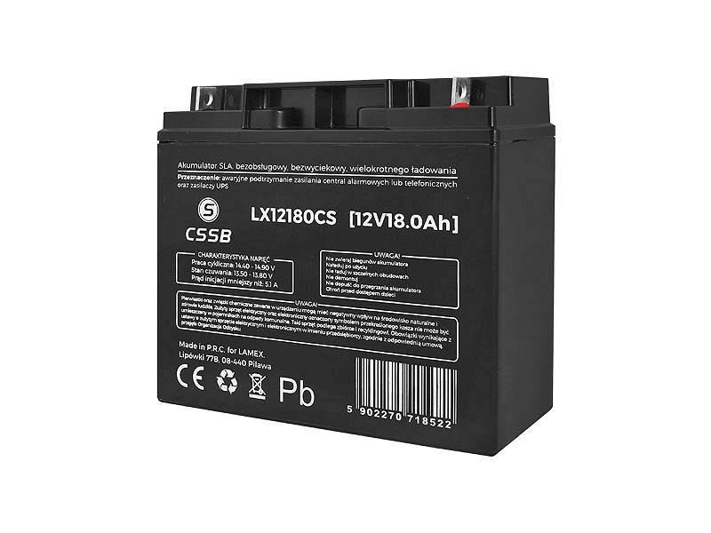 Akumulator żelowy 12V 18Ah