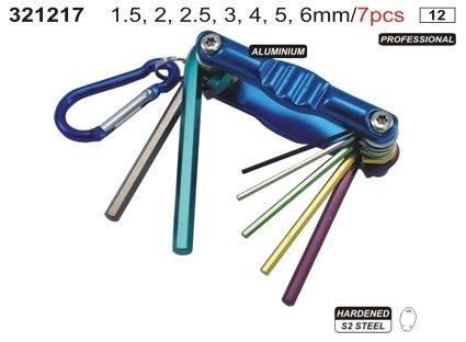 Klucze imbusowe z jednym uchwytem 7 sztuk