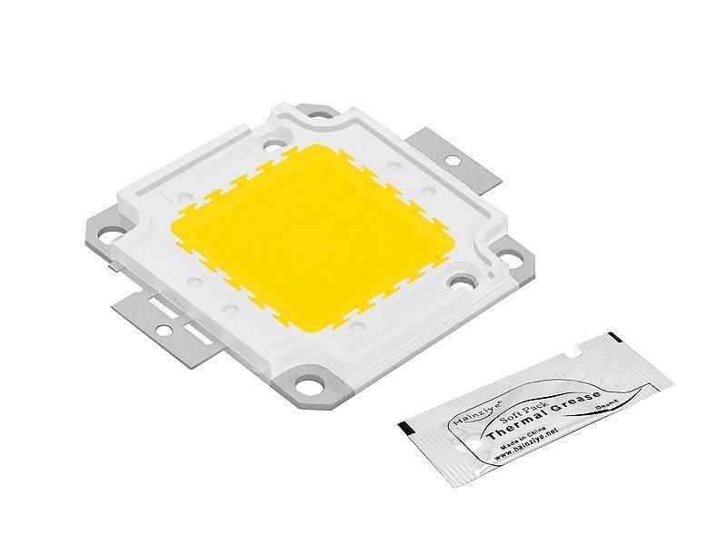 Dioda LED COB 50w biała zimna + pasta