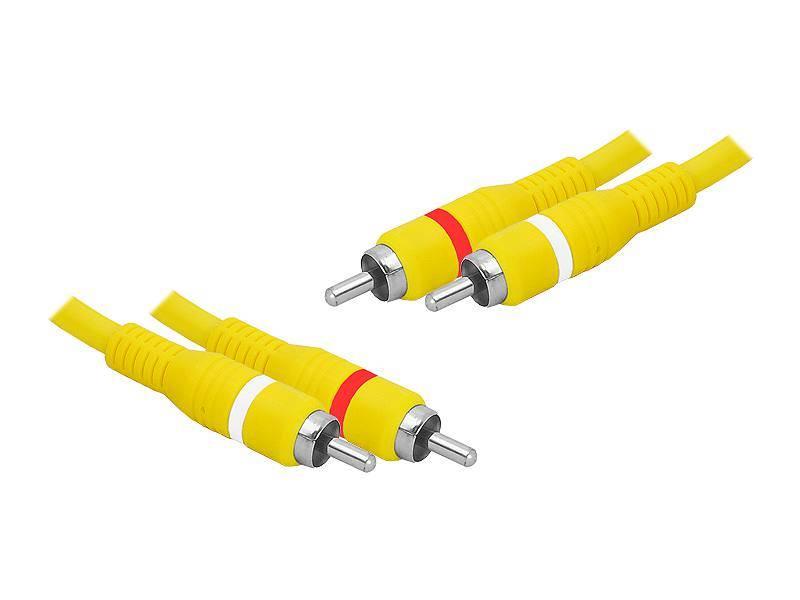 Kabel 2xRCA wtyk - 2xRCA wtyk 3m żółty