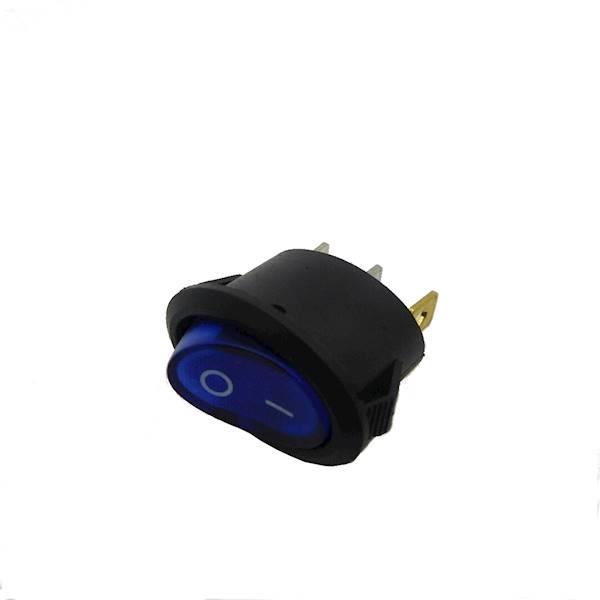 Przełącznik podświetlany owalny AC niebieski