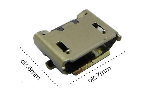Gniazdo mikro USB B montażowe