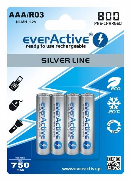 Akumulator R03 4BL everActive 800 silver line