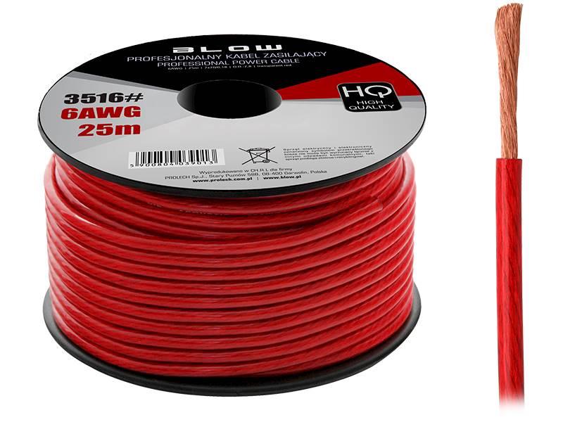 Przewód zasilający 6AWG czerwony