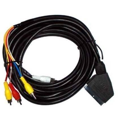 Kabel EURO wtyk - 4 x RCA wtyk 1,5m