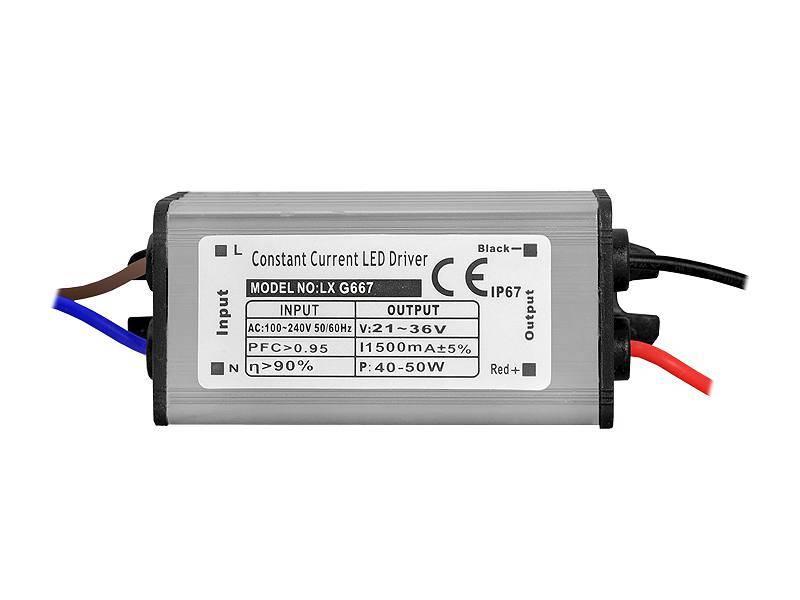 Zasilacz do naświetlaczy LED 40-50W 1500mA 21-36V