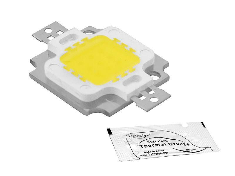 DIODA LED COB 10W 12V (zimna) + pasta