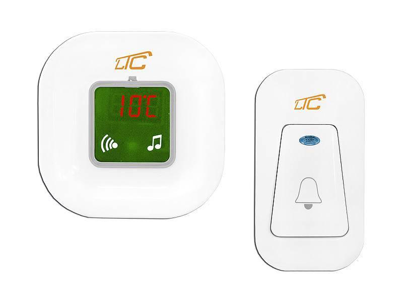 Dzwonek bezprzewodowy z termometrem  AC 230V