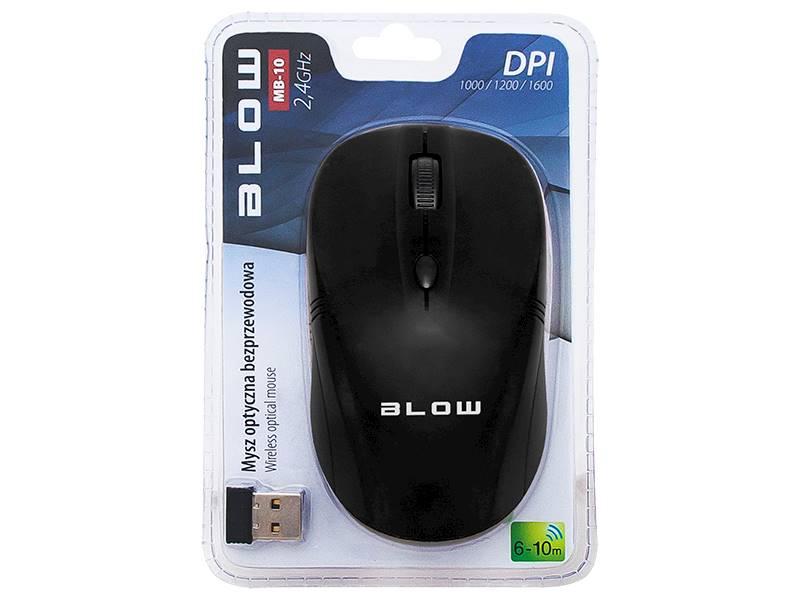 Mysz optyczna bezprzew.BLOW MB-10 czarna