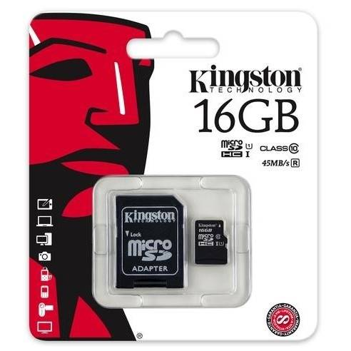 Karta pamięci Kingston microSDHC 16GB class 10