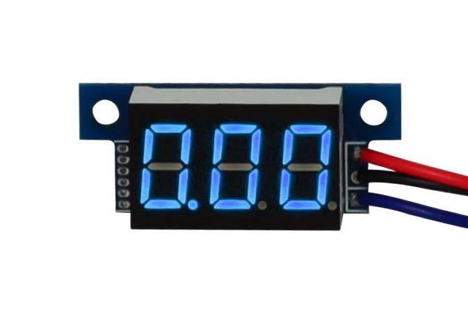 Miernik napięcia woltomierz blue LCD 0-30V