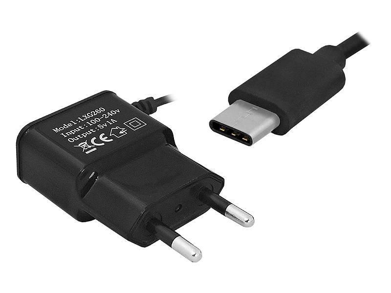 Ładowarka sieciowa wtyk USB type-C 1A