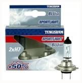 2x Tungsram H7 Sportlight Bluish + 50% światła