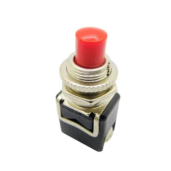 Przycisk monostabilny czerwony metal PBS-13B