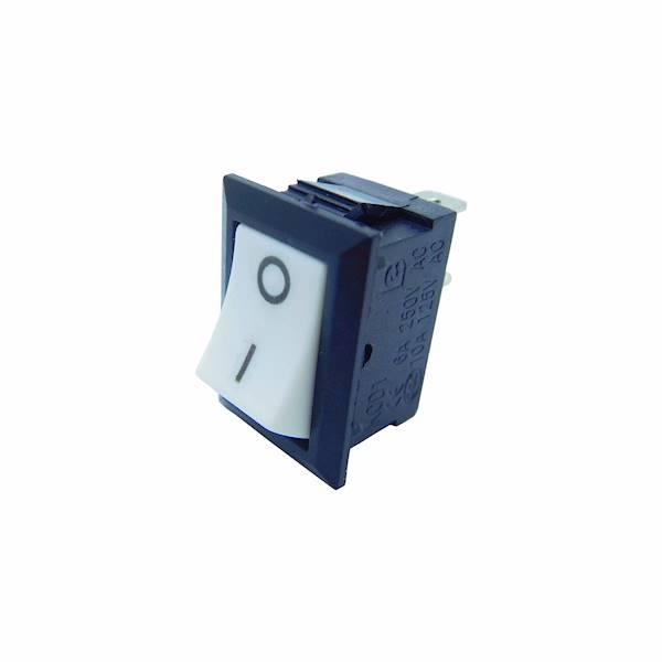 Przełącznik kołyskowy mały 2pin 2-pozycyjny biały