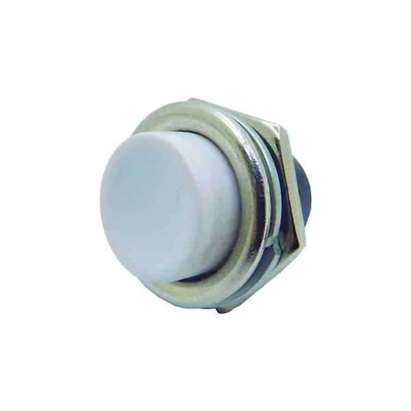 Przełącznik okrągły duży off-(on) biały