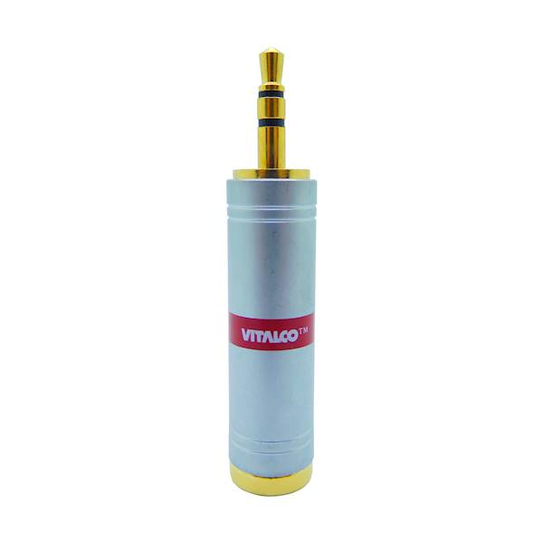 Adapter jack gniazdo 6,3 - wtyk 3,5 chrom Vitalco