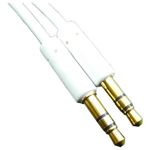 Kabel AUX 2x wtyk Jack 3,5mm 1,5m biały Vitalco