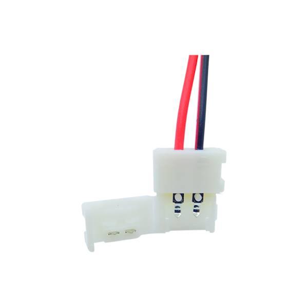 Konektor 10mm z przewodem do taśm 5050
