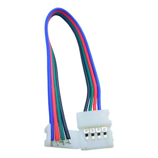 Konektor z przewodem 10mm do taśm LED RGB
