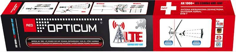 ANTENA TV OPTICUM AX 1000+ LTE COMBO Proline