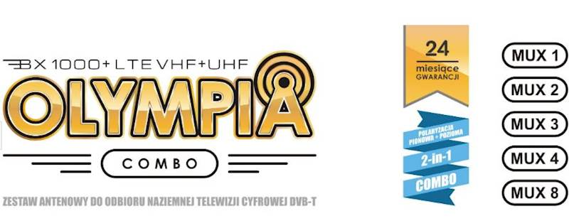 Antena TV Olympia BX1000+ LTE Combo Red Eagle