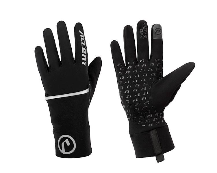 Rękawiczki ocieplane Thermal z pokrowcem czarne XL