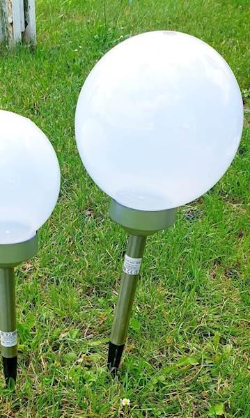 Lampa solarna POLUX biała kula 20 cm SRQ10271L