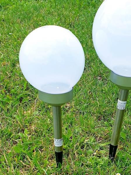 Lampa solarna POLUX biała kula 15 cm SRQ10271L