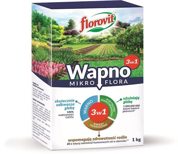 Nawóz wapno mikroflora 3w1 Florovit 1kg