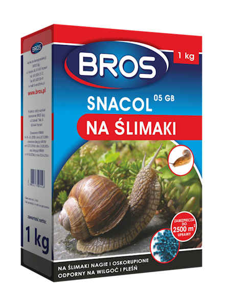 BROS NA ŚLIMAKI, ŚLIMAX 3KG, BROS SNACOL 1KG