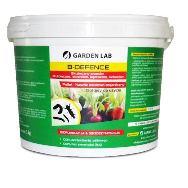 Nawóz organiczny biofimigujący 1kg B-defence Mondo Verde (przeciw pędrakom, drutowcom, turkuciom)