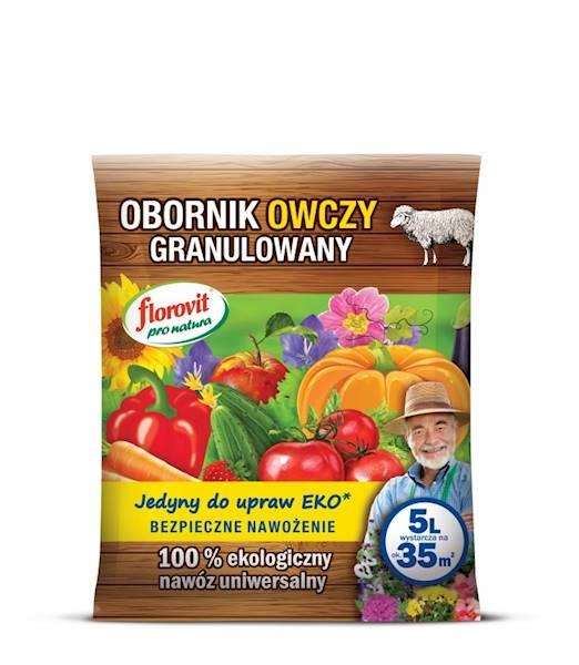 Obornik owczy granulowany, nawóz naturalny Florovit 5l
