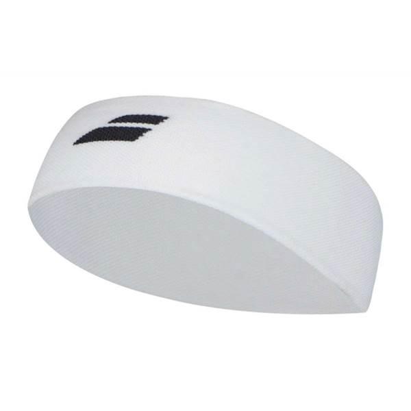 Frotka na głowę Babolat Logo Headband 2018 Biały