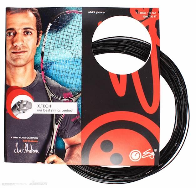 Naciąg do squasha Eye X.Tech Black 1,15mm SET