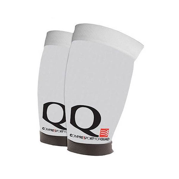 Opaski kompresyjne na uda Compressport Quad White | T3